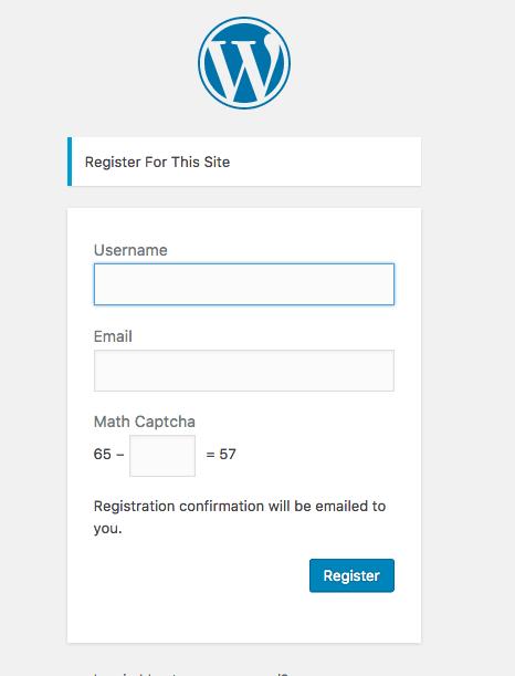 wordpress-spam-register-captcha