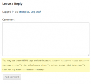 Remove HTML Tags and Attributes in WordPress Comments