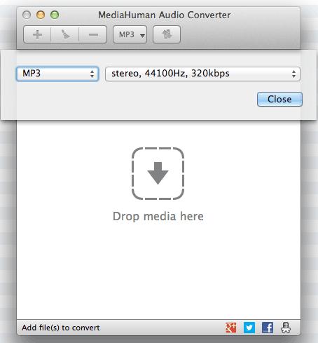 Audio Convertor Settings