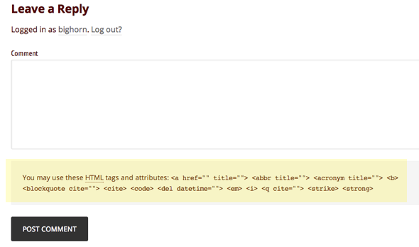 comments-html-tags-attributes
