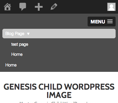 Using Slick Responsive Navigation Mobile Menus on Genesis