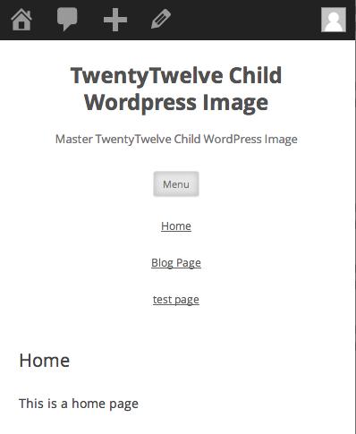 twentytwelve-menu-installed