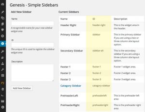 Set a certain Sidebar to Categories and Tags or Posts with Simple Sidebars installed on Genesis