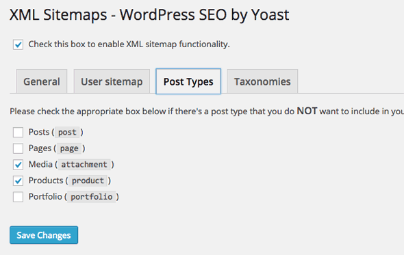 how to change sitemap settings wordpress