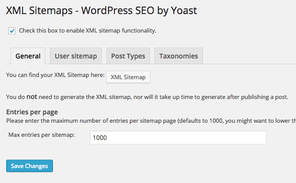 yoast wordpress seo tutorial settings