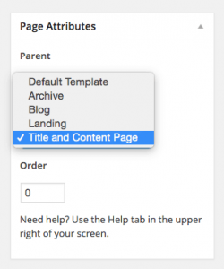 genesis-page-template