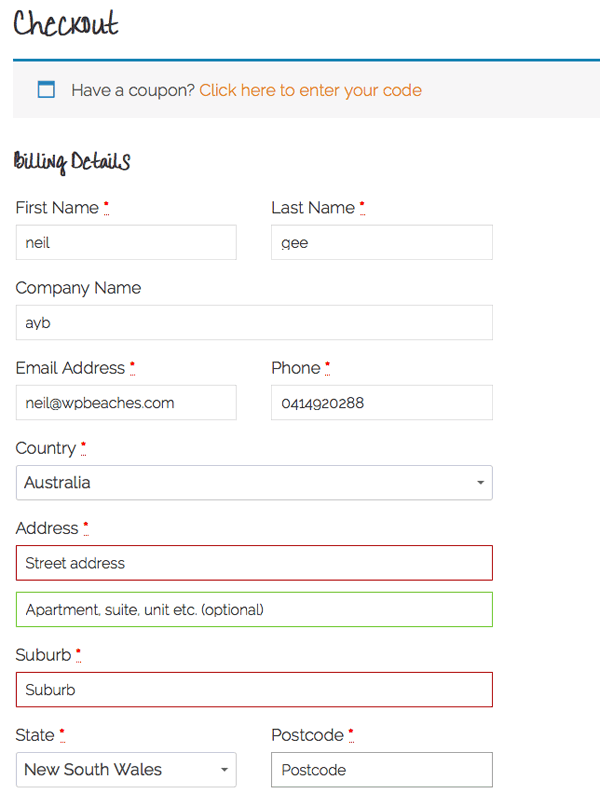 Remove Address Fields in WooCommerce Billing and Shipping in Form Checkout