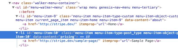 data-attribute-list-item-wordpress