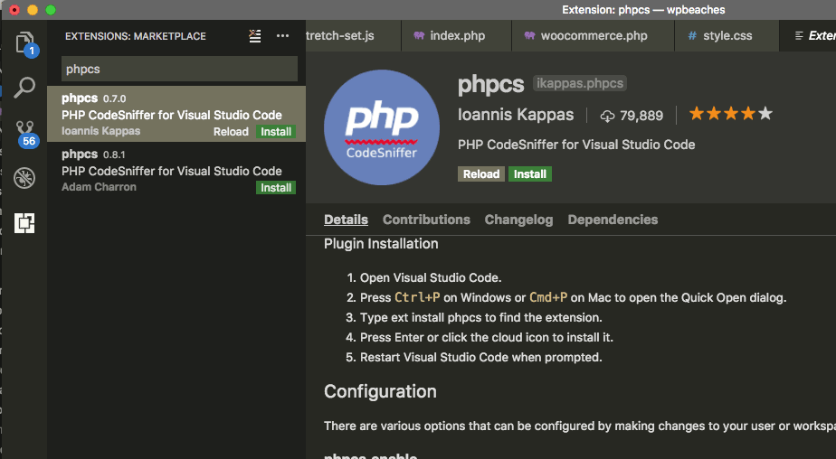 phpcs-visual-code