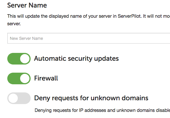 Replacing the default ServerPilot Firewall with your own using UFW
