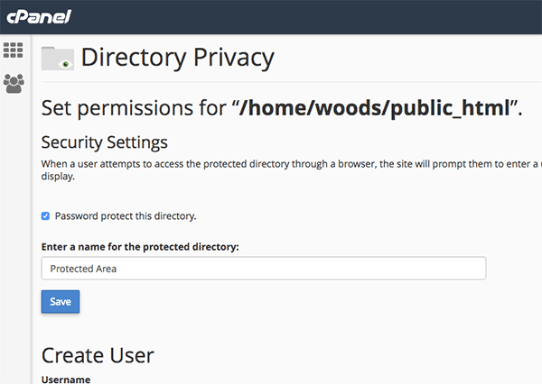 cpanel-directory-privacy