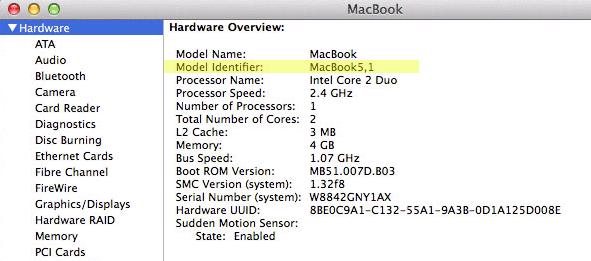 Apple Model Identifier