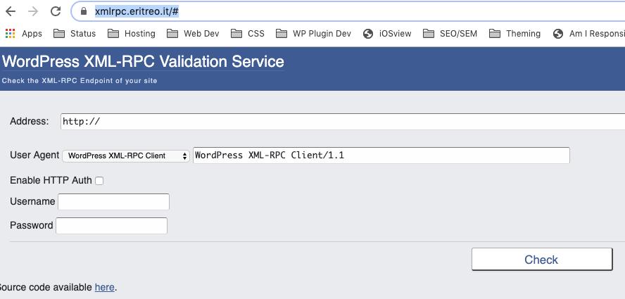 Online Xmlrpc Validator