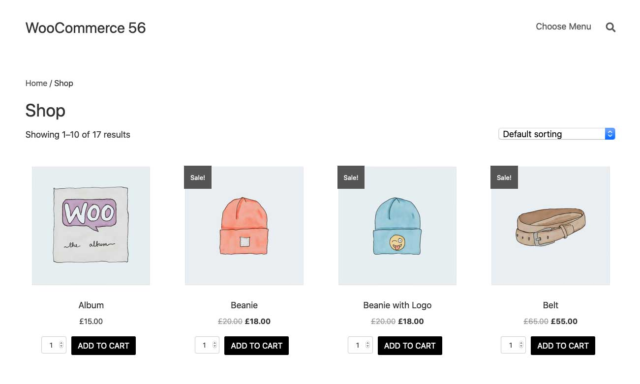 Woocommerce Shop Page With Add To Cart Aligned