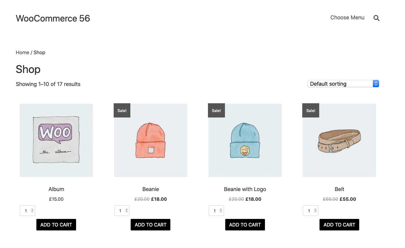Woocommerce Shop Page With Add To Cart Quantity