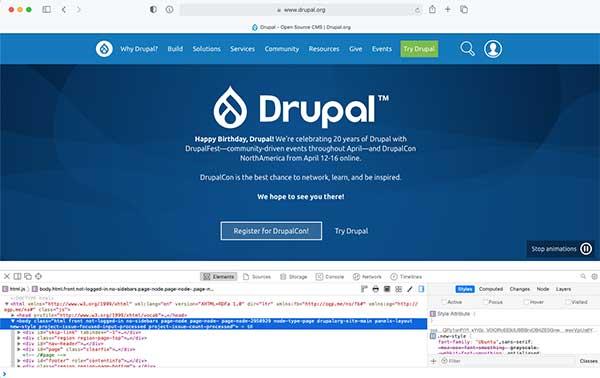 Dev Tools Docked Safari