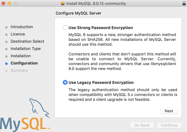 Macos Bigsur Mysql Legacy Password