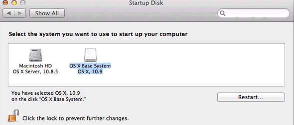 Boot From Osx9