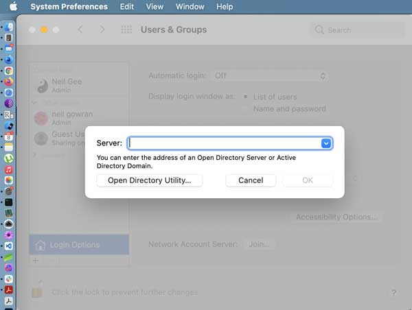 Macos Open Directory Utility