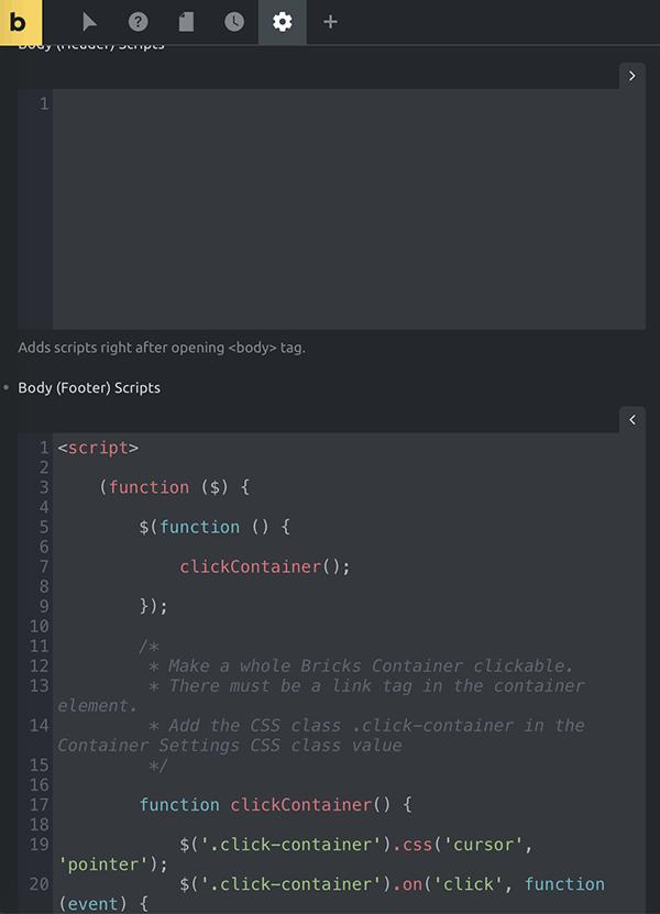 Page Seetings Custom Code