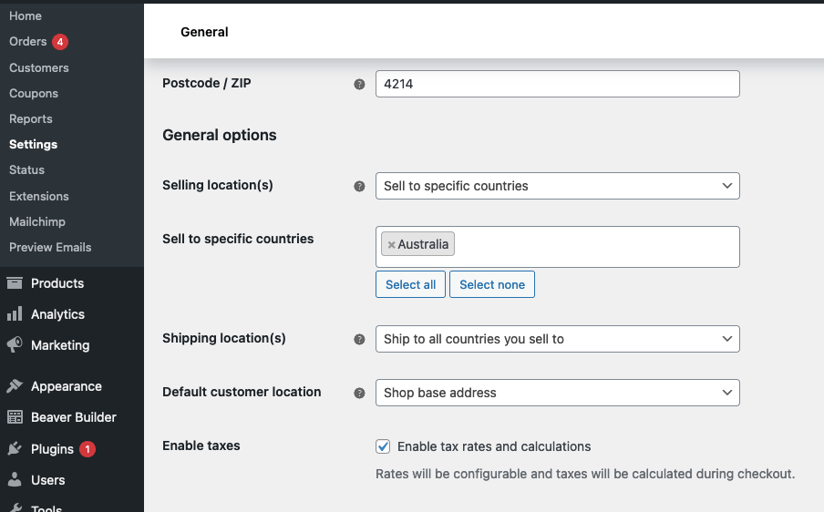 Woocommerce Ship Specific Country