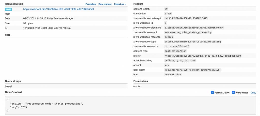 Webhook Limited Data Returned